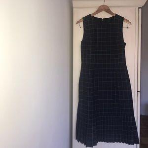 J. Crew Dresses - J Crew blue plaid jumper dress